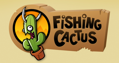 Fishing Cactus Rectangle